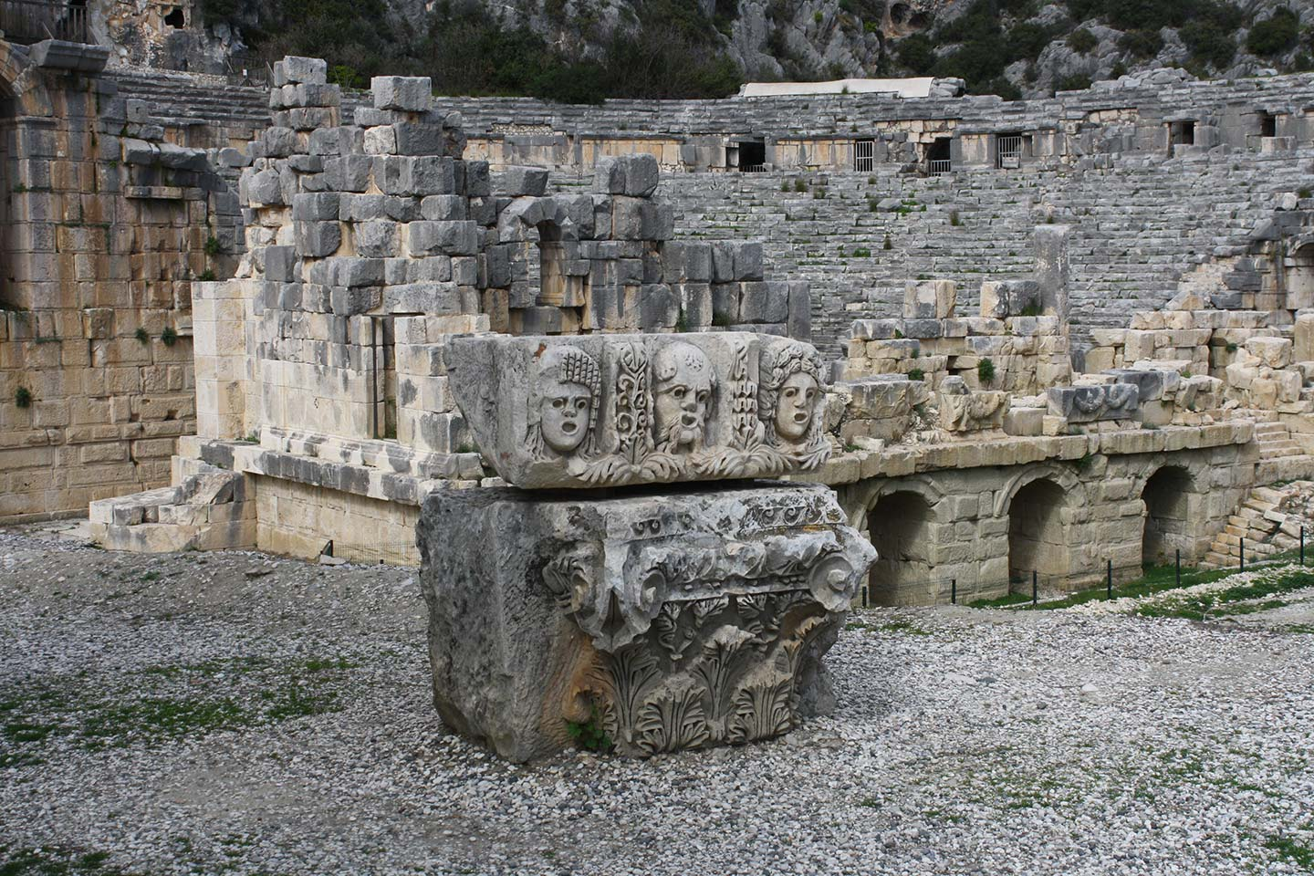 Carving on Lycian Tomb