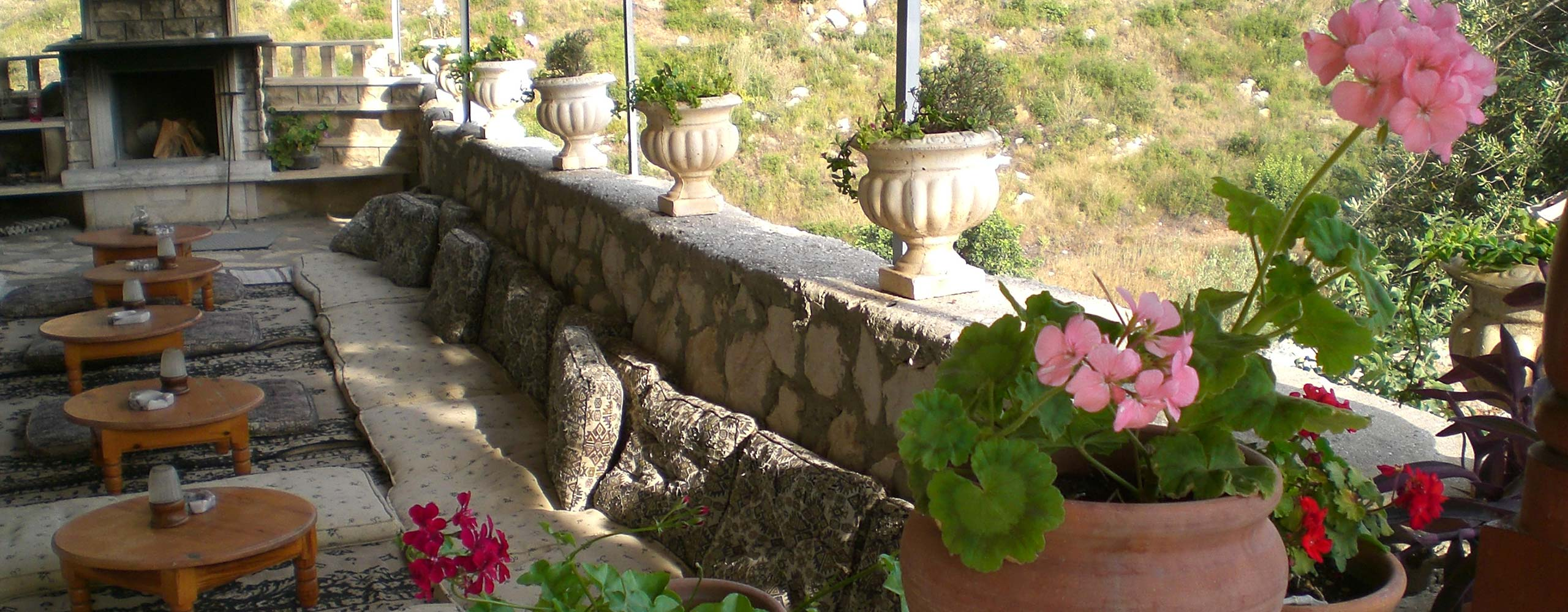 Hotel Cushioned Ottoman Terrace