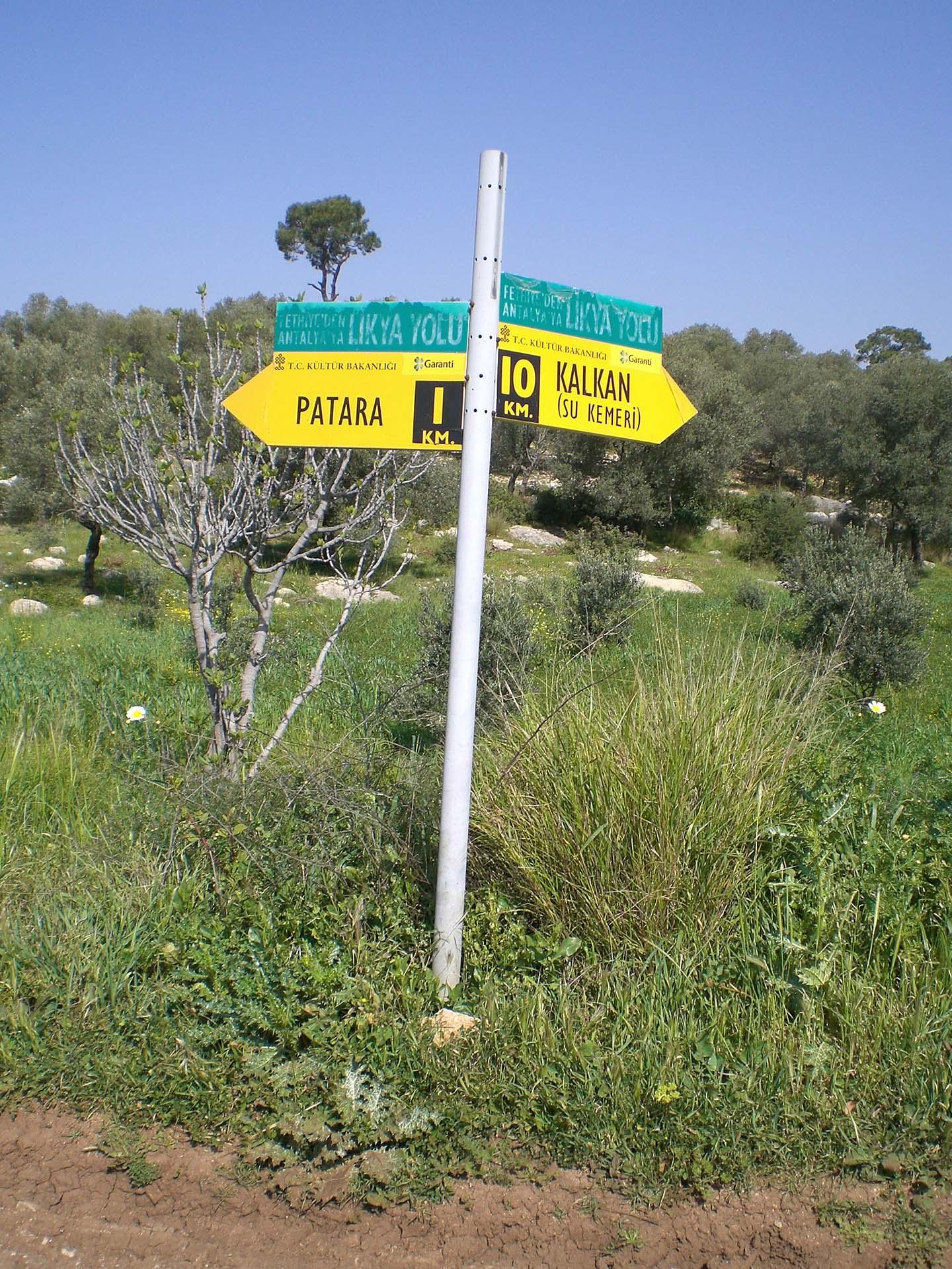 Lycian way sign