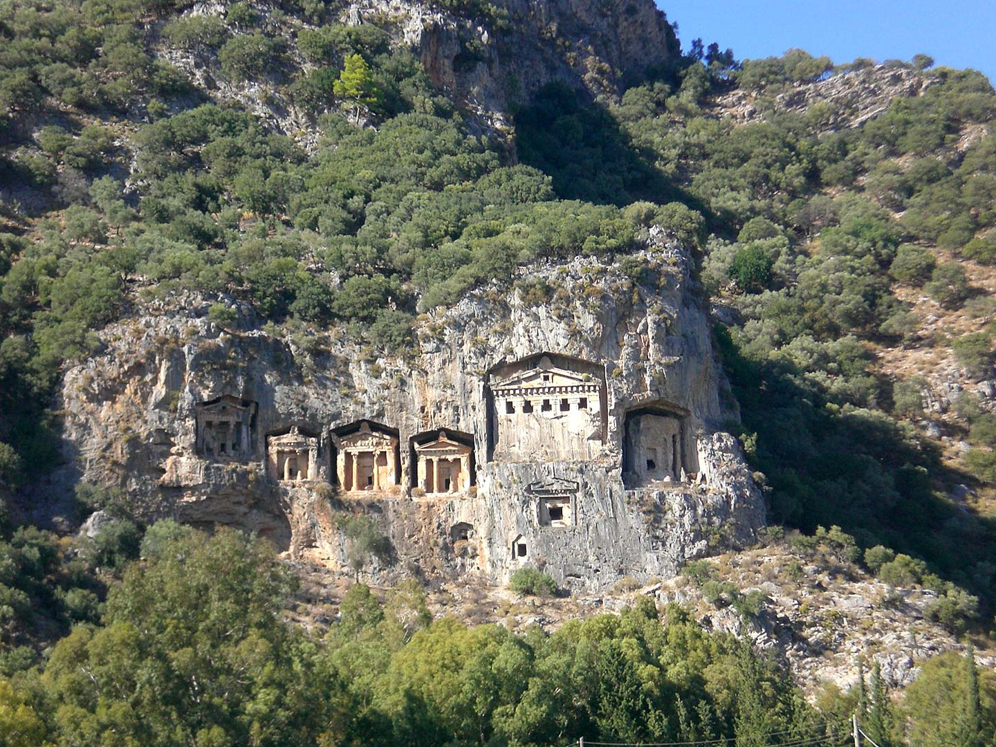 Rock tombs at Dalyan