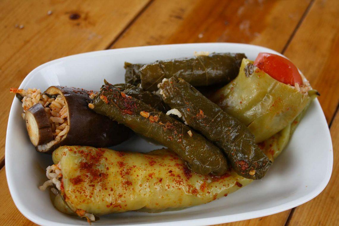 Turkish Meze - Stuffed Vegetables