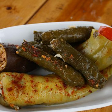 Turkish Meze - Stuffed Vegetables