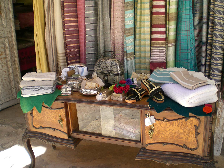 shopping for textiles